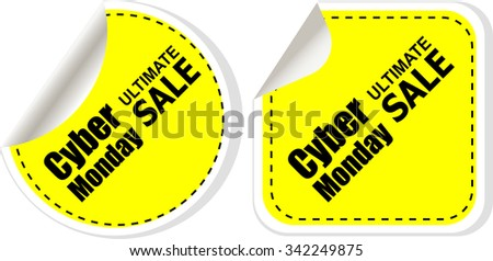 Cyber monday sale inscription design template. Cyber monday discounts concept. Vector illustration