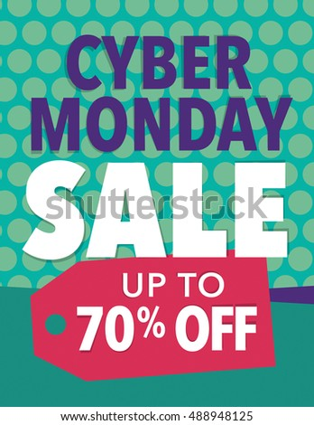 Cyber Monday Sale - Save up to 70% poster