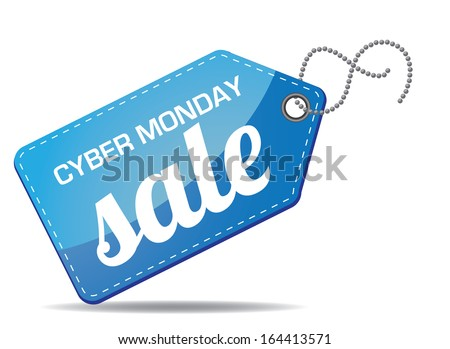 Cyber Monday sales tag. EPS 10 vector, grouped for easy editing. No open shapes or paths. - stock vector