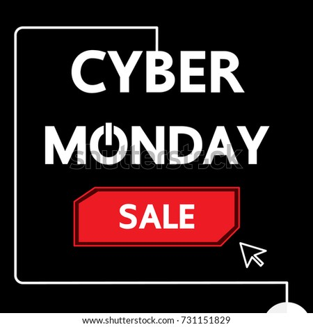 Cyber Monday vector business design.