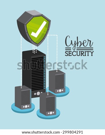 cyber security design, vector illustration eps10 graphic  - stock vector