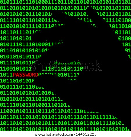 Cybercrime - stock vector