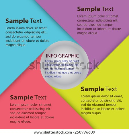 cycle colorful modern text box template for website computer graphic and internet, numbers.  - stock vector