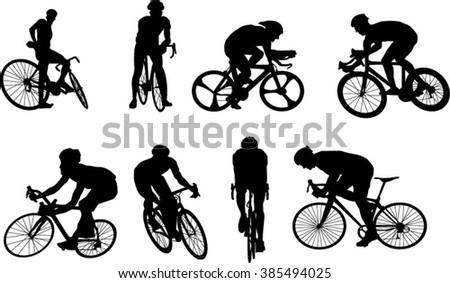 Cycler silhouette - stock vector