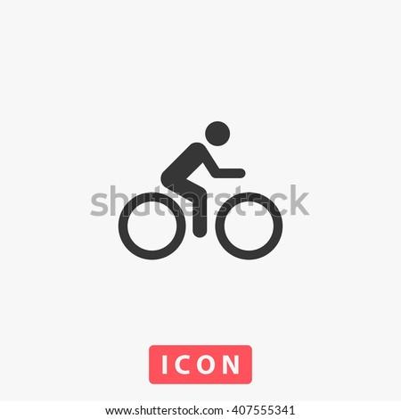 Cycling Icon.  - stock vector