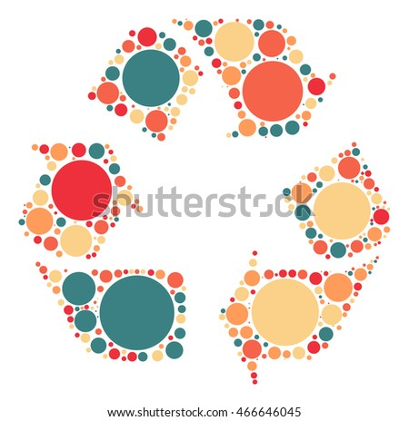 Cycling icon shape vector design by color point