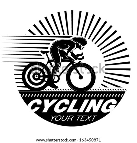 Cycling race. Vector illustration in the engraving style - stock vector