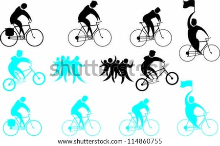 Cycling Symbols Silhouettes