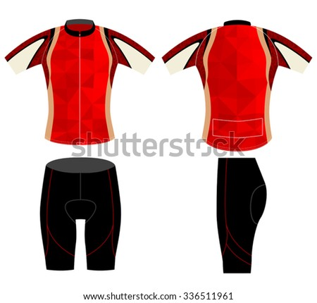 Cycling vest graphics low poly style vector on a white background - stock vector