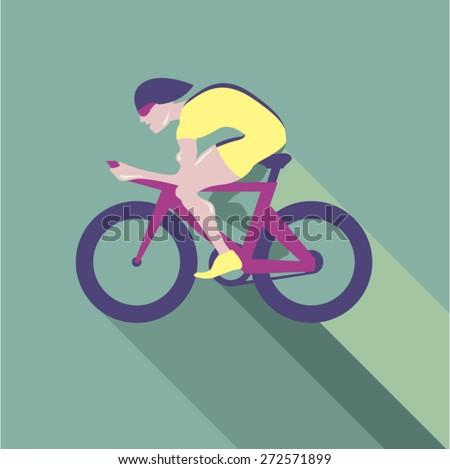 Cyclist racer Vector - stock vector