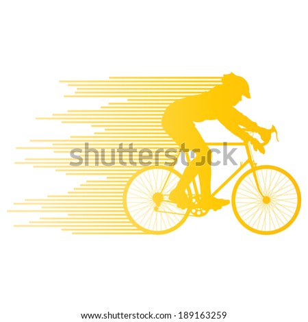 Cyclist vector background concept made of stripes - stock vector