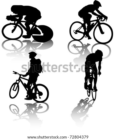 cyclists' vector - stock vector