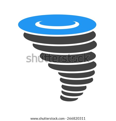 Cyclone, tornado, hurricane, typhoon icon vector image. Can also be used for weather, forecast, season, climate, meteorology. Suitable for web apps, mobile apps and print media. - stock vector