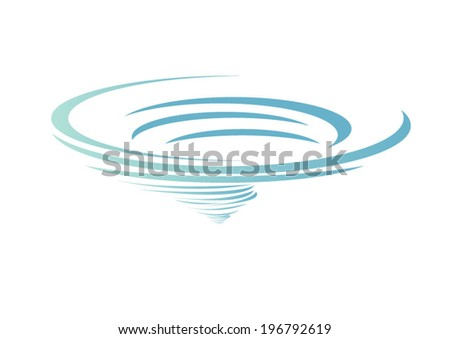 cyclone , vector icon  - stock vector