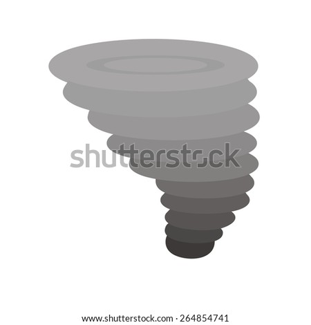 Cyclone vector image recommended for use in web applications, mobile applications, and print media. - stock vector