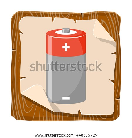 Cylinder battery icon - stock vector