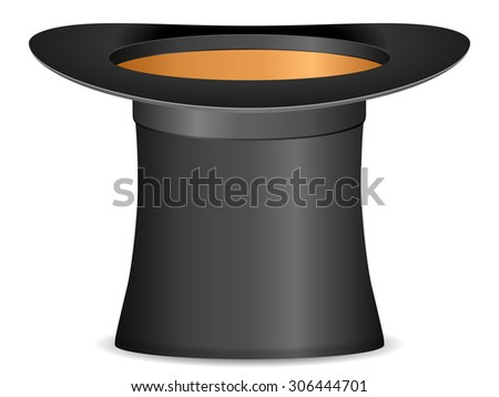 Cylinder hat on a white background.