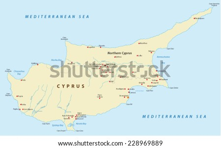 Cyprus Map Stock Images RoyaltyFree Images Vectors Shutterstock - Northern cyprus map