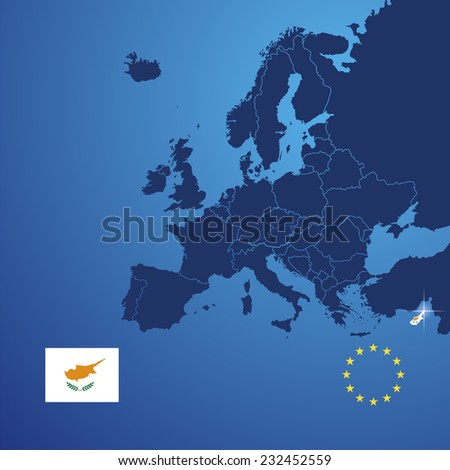 Cyprus map cover vector - stock vector
