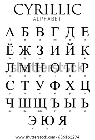 how many letters in the russian alphabet cyrillic alphabet on white background vector เวกเตอร สต อก 43677