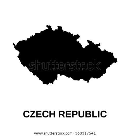 Czech Republic - map - stock vector