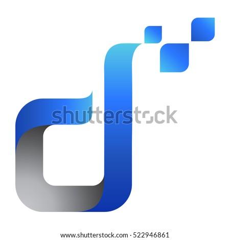 D logo stock vector 2018 522946861 shutterstock d logo thecheapjerseys Images
