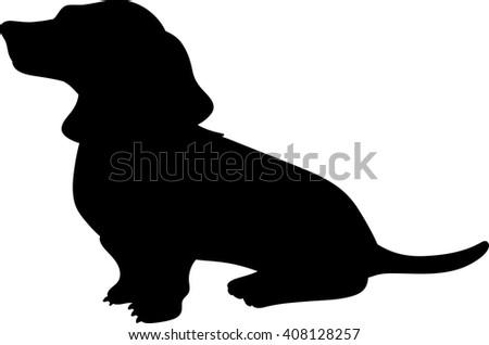 dachshund vector silhouette