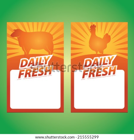 daily fresh lamb and chicken sign