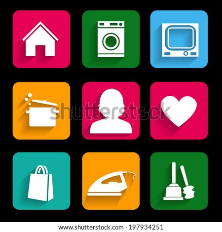 Daily Routine women. Modern business. Can be used for icon, template, diagram, pictogram - stock vector