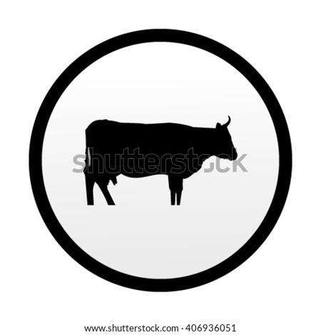 Dairy cow. Vector icons for video, mobile apps, Web sites and pr