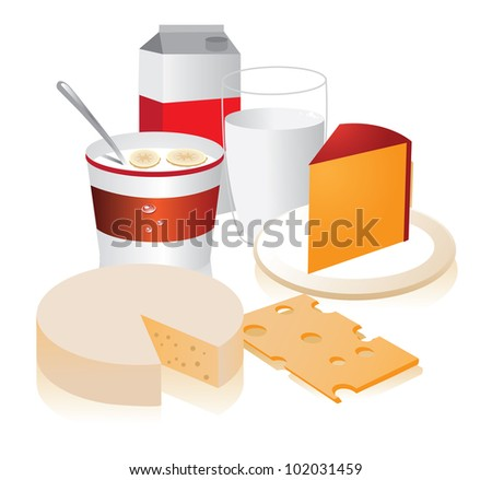 Dairy Food Group Clip Art Dairy Food Group Eps 8 Vector