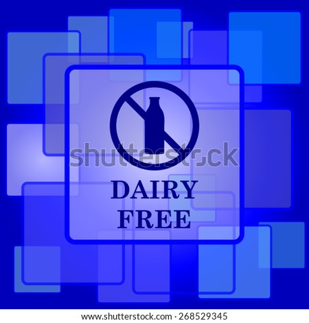 Dairy free icon. Internet button on abstract background.  - stock vector