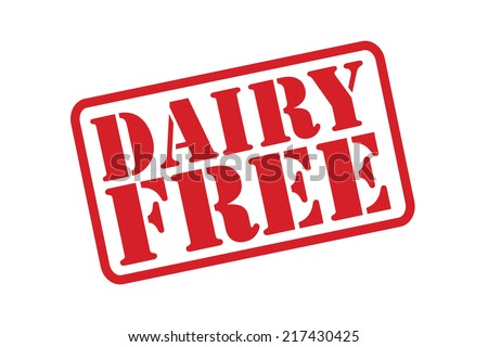 DAIRY FREE Rubber Stamp vector over a white background. - stock vector