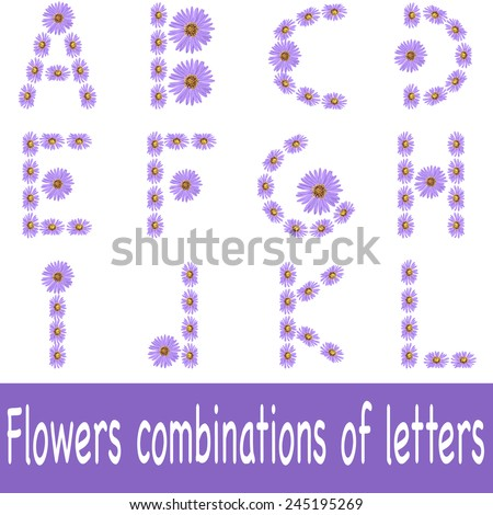 Daisy designs letters vector - stock vector