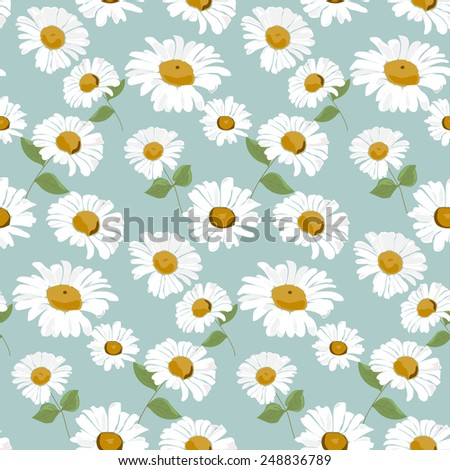 daisy seamless pattern,  Endless texture can be used for wallpaper, pattern fills, web page background,surface textures. - stock vector
