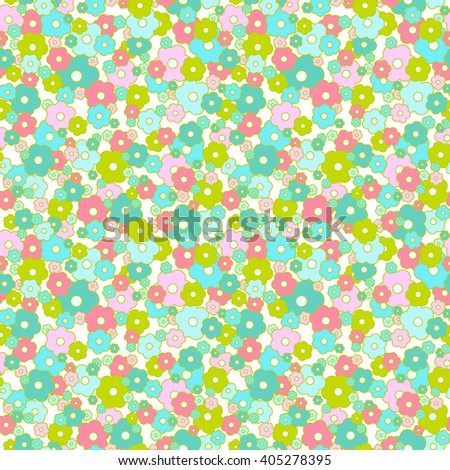 Daisy seamless  pattern. Small flowers background. - stock vector