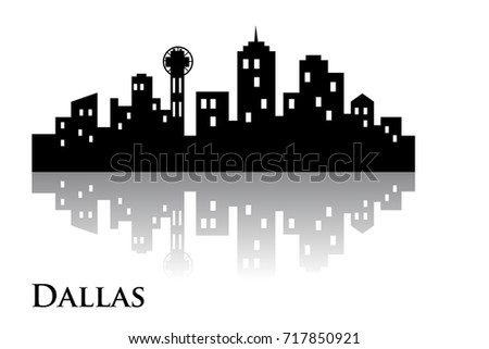 dallas skyline city logo vector stock vector royalty free rh shutterstock com Dallas Skyline at Night Downtown Dallas Skyline