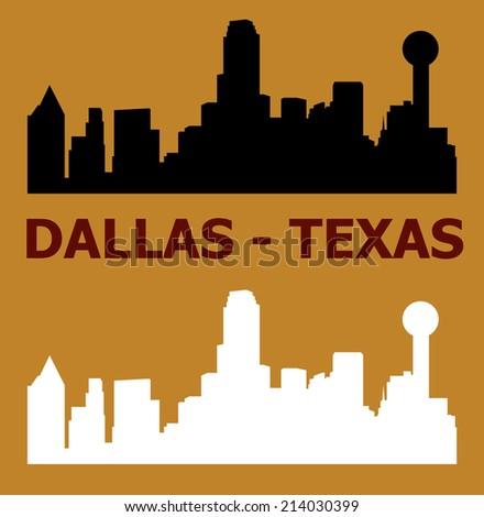 Dallas, Texas, skyline - stock vector
