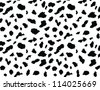 Dalmatian vector illustration,skin background. - stock photo