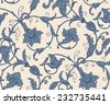 Damascus pattern. Seamless vintage background. Vector illustration.  - stock vector