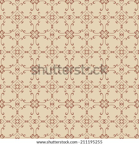 damask decorative wallpaper for walls vector vintage seamless patterns abstract background - stock vector