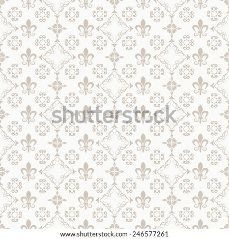damask decorative wallpaper for walls, vintage abstract background (vector) - stock vector