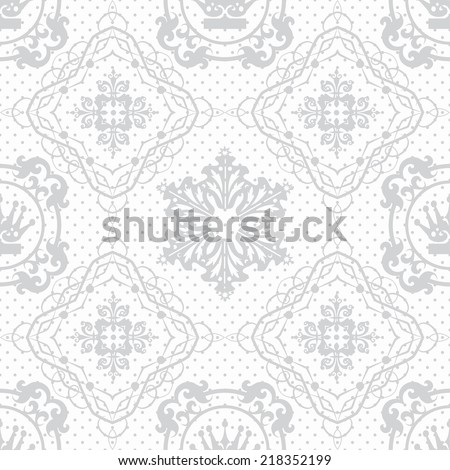 damask decorative wallpaper for walls vintage seamless patterns abstract background  vector illustration - stock vector
