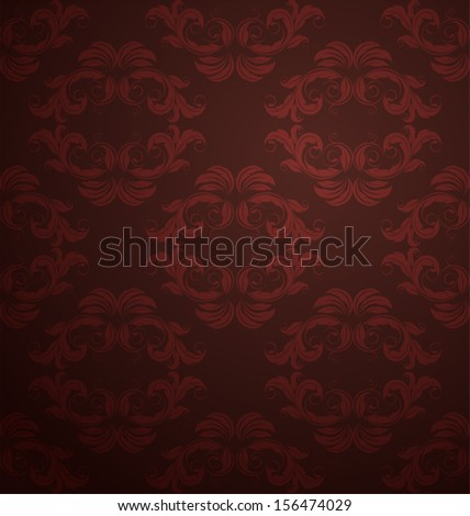Damask  floral pattern. Vintage vector illustration.
