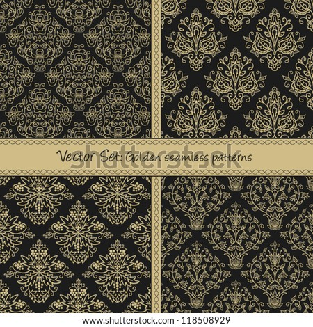 Damask floral textile pattern. Seamless pattern can be used for wallpaper, fabrics, paper craft projects, web page background,surface textures. Abstract textile floral background - stock vector