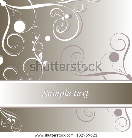 Damask floral vector pattern. Perfect for greeting card.  Wedding card or invitation in abstract damask style. Ornate background. Vintage swatch.