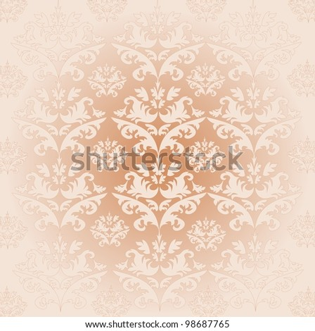Damask pattern 1 - stock vector