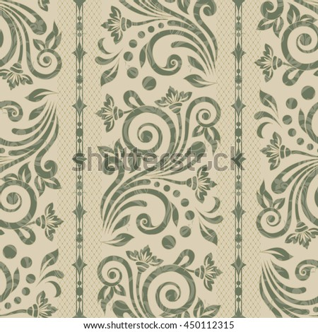 Damask seamless floral background pattern. Vector illustration