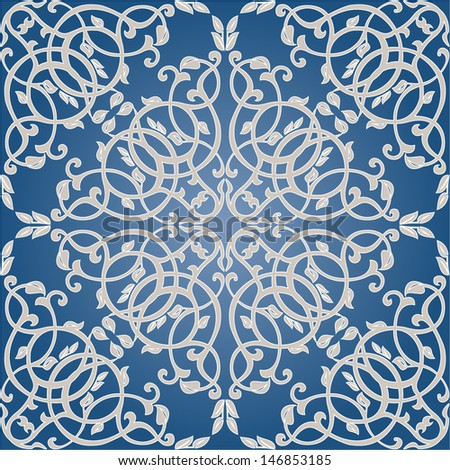 Damask seamless floral pattern. Royal wallpaper. Floral background with pastel colors. - stock vector