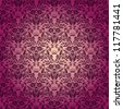 Damask seamless floral pattern. Royal wallpaper. Flowers on a rose background. EPS 10 - stock vector